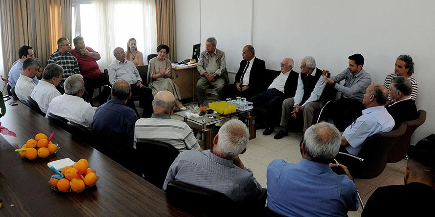 Siyasi parti temsilcierinden Lefke'ye ziyaret