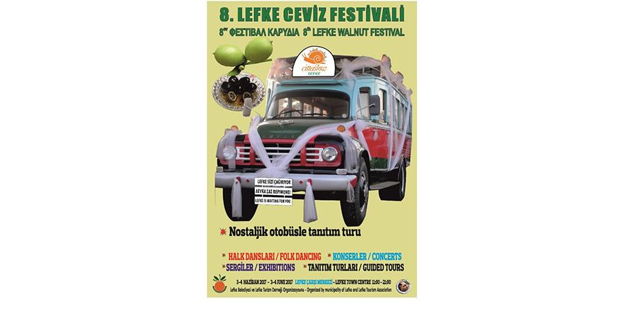 8'inci Lefke Ceviz Festivali 3-4 Haziran'da…