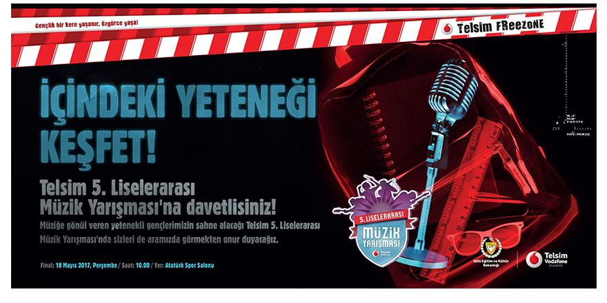 5. Freezone Liselerarası Müzik Yarışması finali 18 Mayıs'ta…