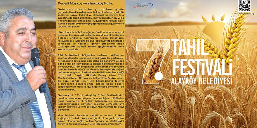 Alayköy, Tahıl Festivali ile şenlenecek