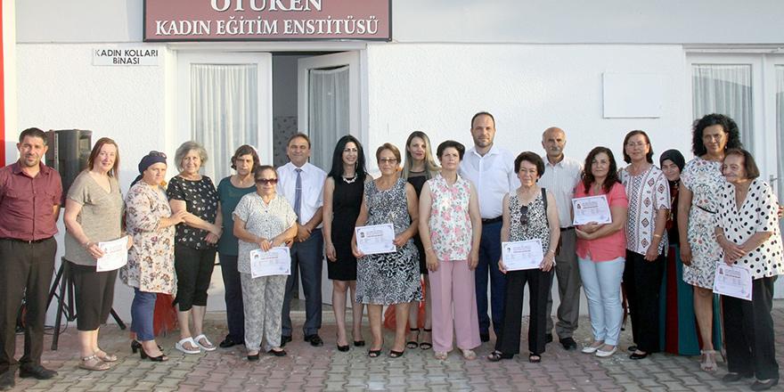 Ötüken Kadın Eğitim Enstitüsü'nün yılsonu sergisi açıldı
