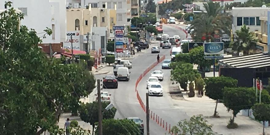 Girne'de yeni trafik düzenlemesi