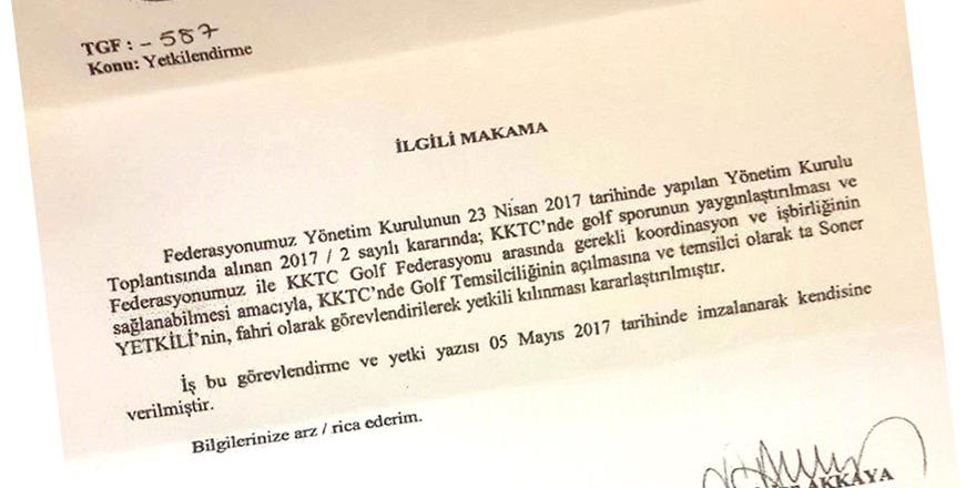 'GOLF' yönetimi için de Türkiye'den 'temsilci' (!)