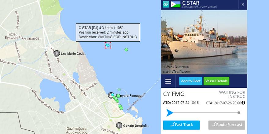 'C Star' gemisi yakıt alıp adadan ayrılıyor