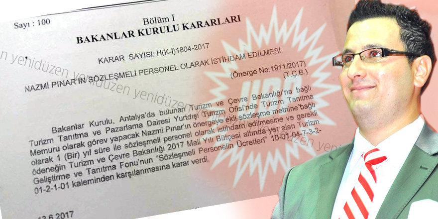 Nazmi Pınar Antalya'da 'memur' oldu