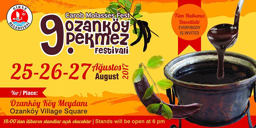 9. Ozanköy Pekmez Festivali 25 Ağustos'ta..
