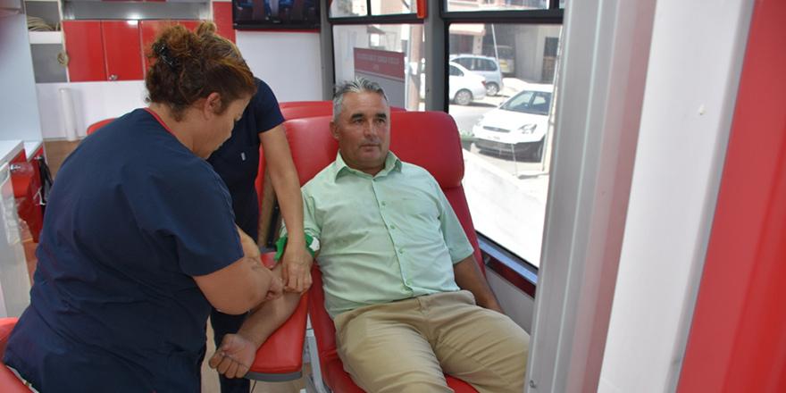 Güvercinlik köyünde kan bağışı kampanyası