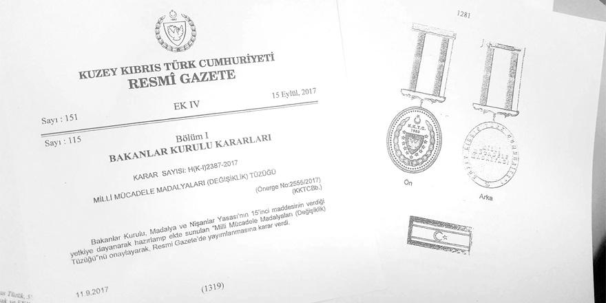 55 bin kişiye Altın kaplama Milli Mücadele Madalyası!