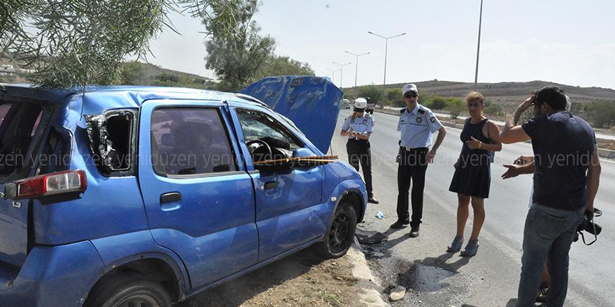 Lefkoşa-Girne anayolunda kaza: 3 yaralı