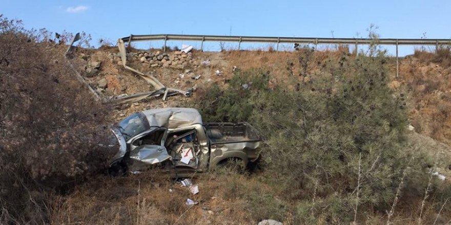 Girne-Değirmenlik anayolunda kaza: 1 kişi yaralandı