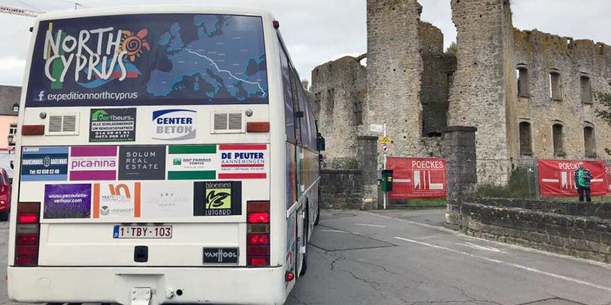 """""""Expedition North Cyprus"""" otobüsü yola çıktı"""