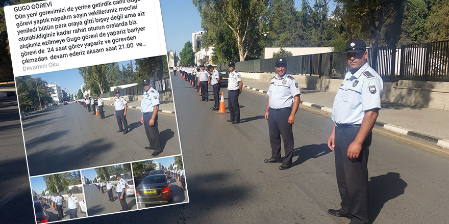 Polisin isyanı: Canlı gugo görevimizi yaptık