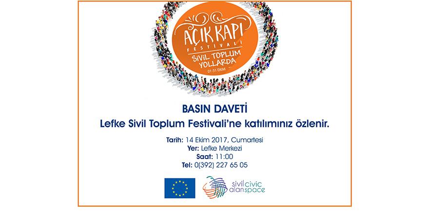 Lefke Sivil Toplum Festivali bugün