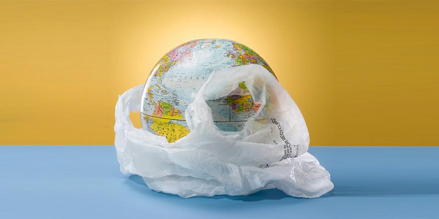 """""""Naylon poşet kullanmaya son ver Dünya'nı kurtar"""""""