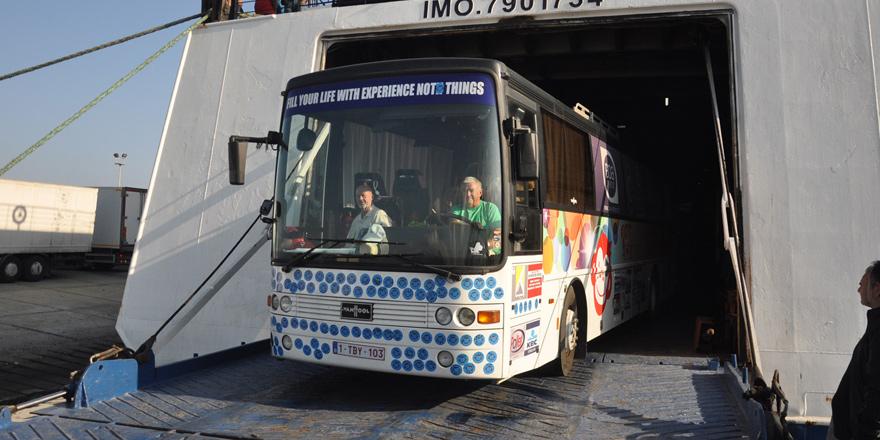"""""""Kuzey Kıbrıs'ı Keşfet"""" otobüsü geldi"""