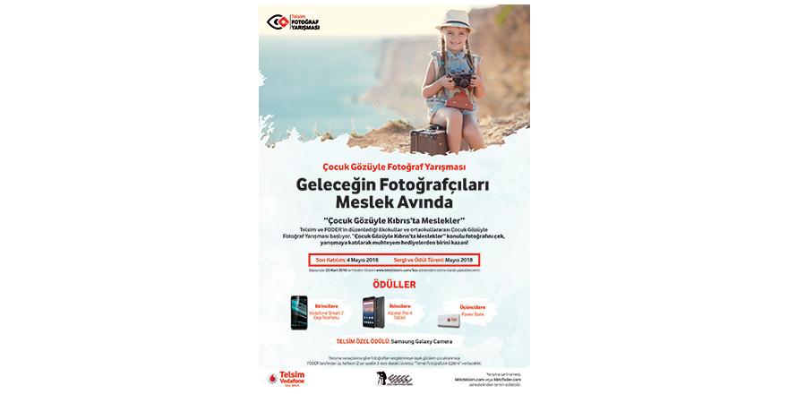 """Çocuk Gözüyle Fotoğraf Yarışması'nın konusu;  """"KIBRIS'TA MESLEKLER"""""""