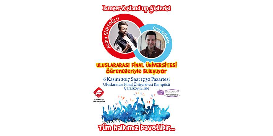 Aydın Kurtoğlu ve Onur Sermik 6 Kasım'da UFÜ'de