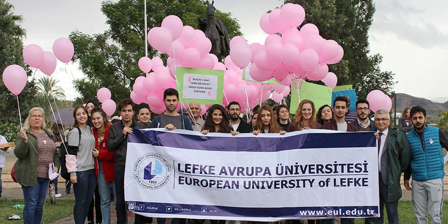 """LAÜ'de """"Meme Kanseri Farkındalık Yürüyüşü"""""""