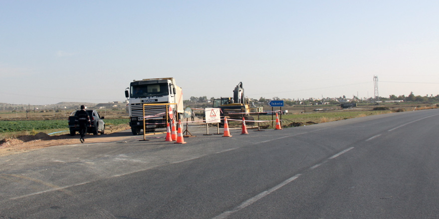 İskele'nin batı girişi trafiğe kapatıldı