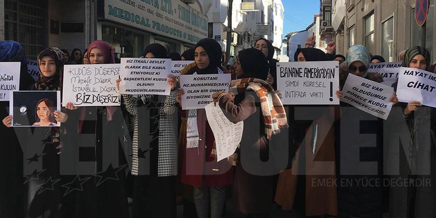 Trump'ın Kudüs kararı Lefkoşa'da da protesto edildi
