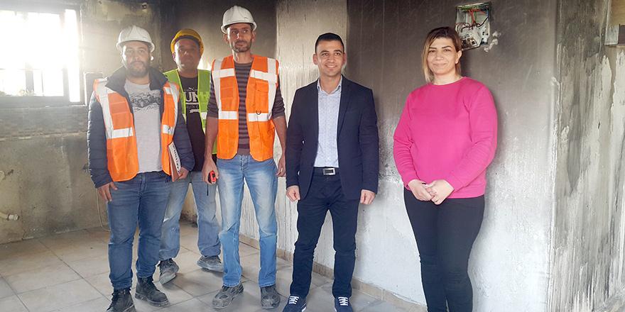 Gaziköy'de evi yanan aileye yardım eli