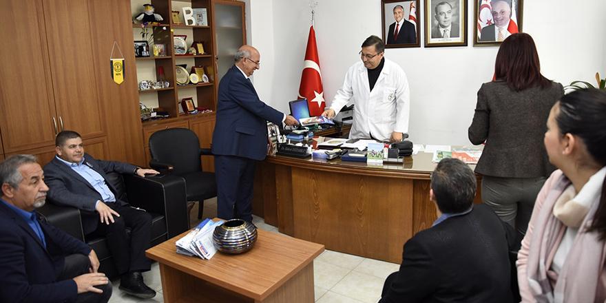 TDP heyeti, Lefkoşa Devlet Hastanesi'ni ziyaret etti