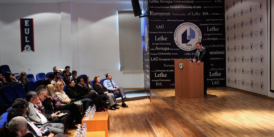 Öztürkler, LAÜ'de konferans düzenledi