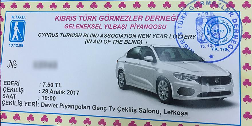 Kıbrıs Türk Görmezler Derneği Piyangosu çekildi