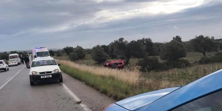 Karpaz bölgesinde korkutan kaza