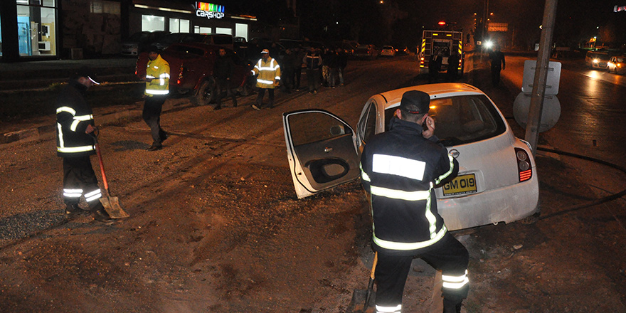 Korkutan kaza, 3 yaralı