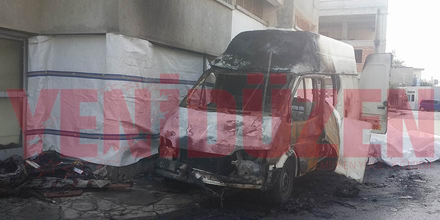 Park halindeki araç yandı!