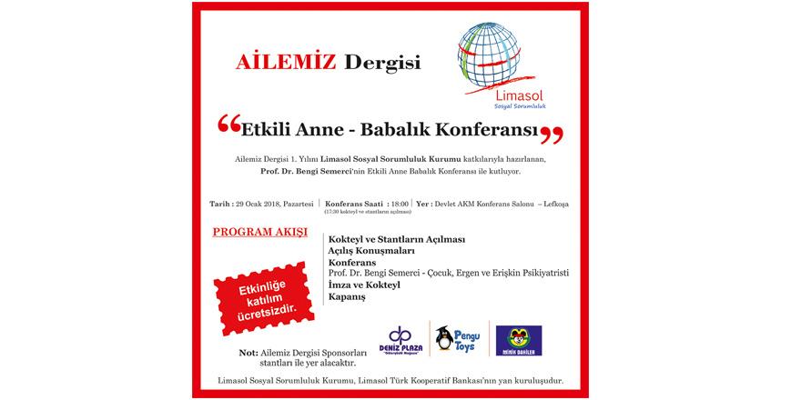 """Lefkoşa'da """"Etkili Anne –Babalık"""" semineri yapılıyor"""