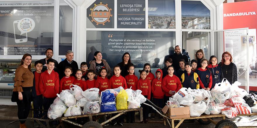 Şht. Tuncer İlkokulu Öğrencileri LTB Paylaşım Mutfağı'na katkı yaptı