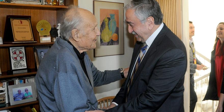 Ressam Cevdet Çağdaş'a vefa ziyareti