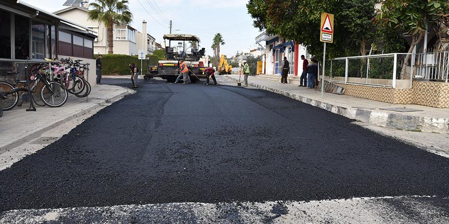 Lefkoşa'da asfalt yatırımları sürüyor