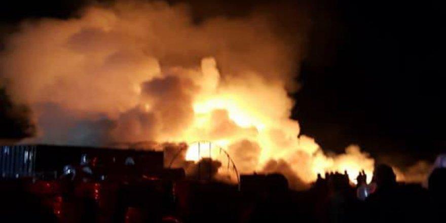 Bafra'da yangın!