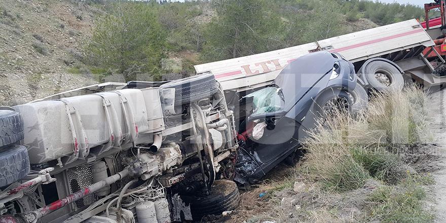 Girne-Değirmenlik Dağyolu'nda kaza!