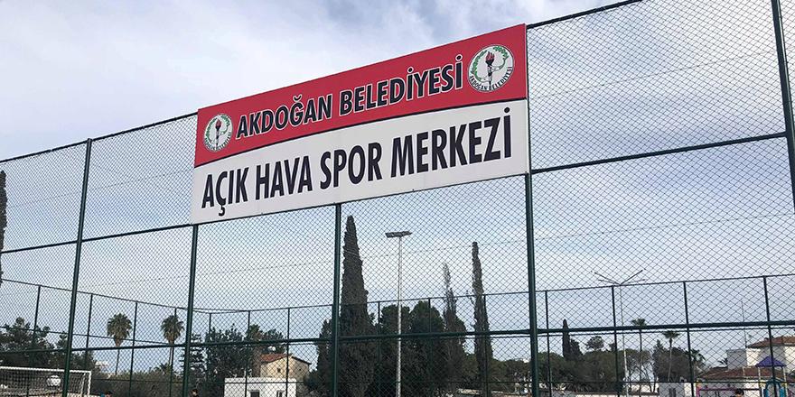 Akdoğan'da 'Açık Hava Spor Merkezi'ne hizmette…