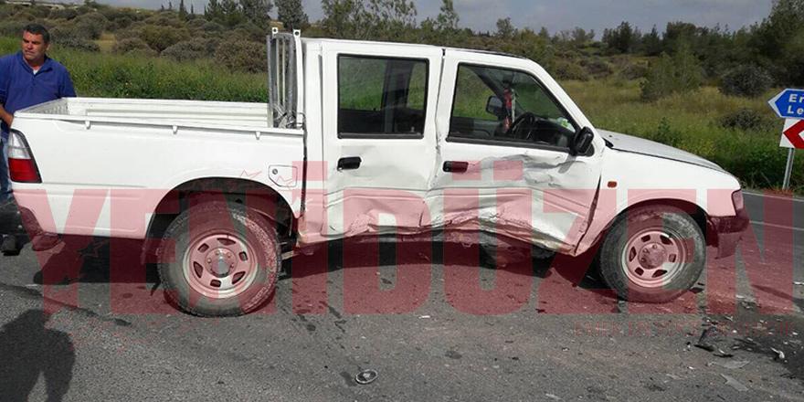 Ercan-Akıncılar yolunda kaza