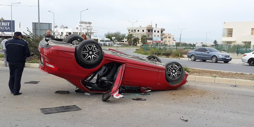 Alkollü sürücü böyle durabildi!
