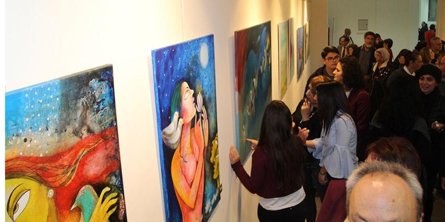 Sanat Festivali'nde yapılan eserler sergilenmeye başladı
