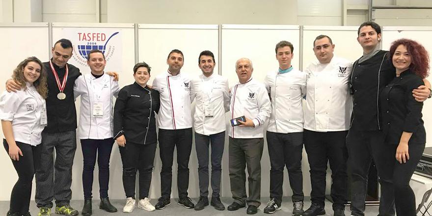 Gastronomi öğrencilerinden, uluslararası yarışmada 10 madalya
