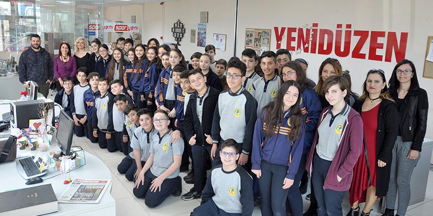 Atleks Sanverler Ortaokulu'ndan  UNITED Medya Group'a ziyaret…