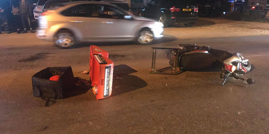 Girne'de motosiklet kazası