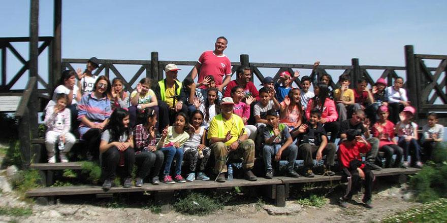 Haspolat İlkokulu, dağ yürüyüşü gerçekleştirdi