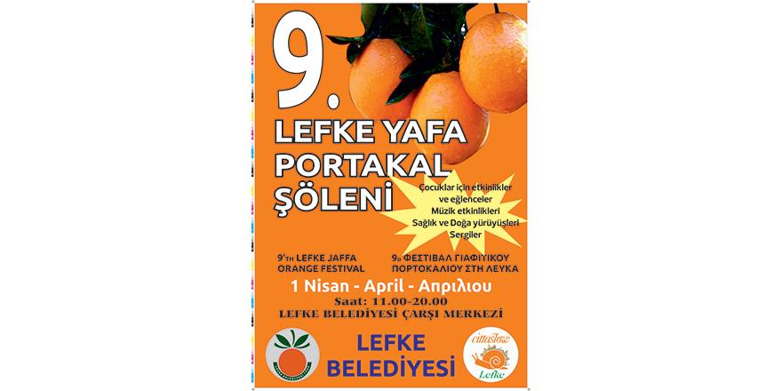 """9. Lefke Yafa Portakal Şöleni"" 1 Nisan'da"