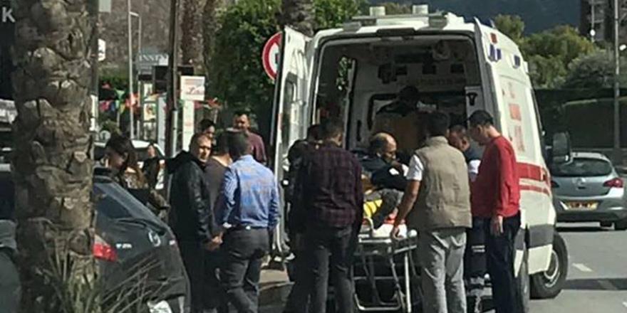 Girne'de motosiklet kazası: 1 yaralı
