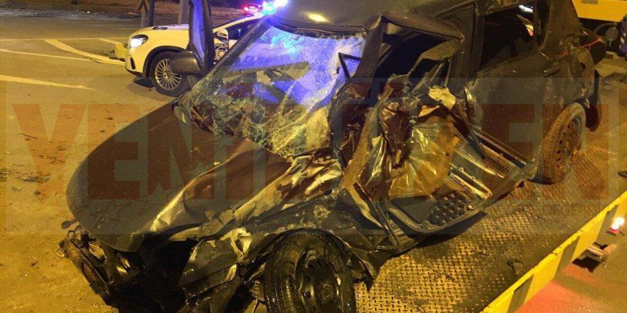 Korkutan kaza: 2 yaralı