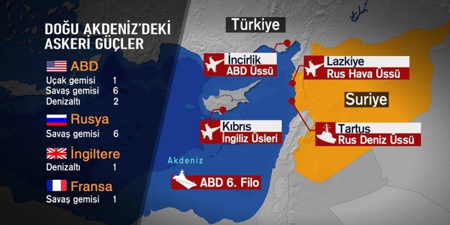 Akdeniz'de ve Suriye'de gerilim büyüyor