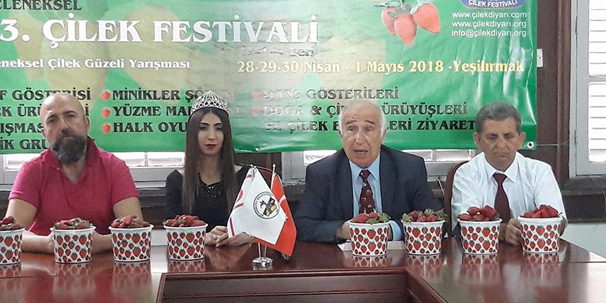 """""""13. Geleneksel Çilek Festivali"""" 28 Nisan'da"""